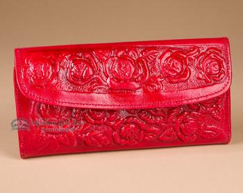 Southwest Embossed Roses Handbag Wallet