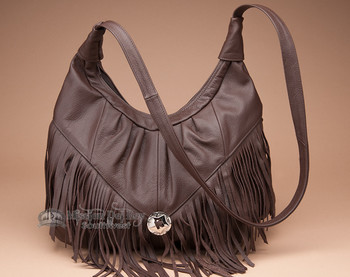 Southwestern Leather Concho Purse
