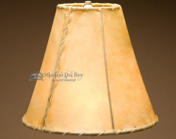 Southwestern rawhide bell lampshade. 12""