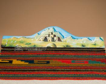 Painted Rug Hanger - Pueblo