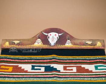 Southwest Rug Hanger - Skull