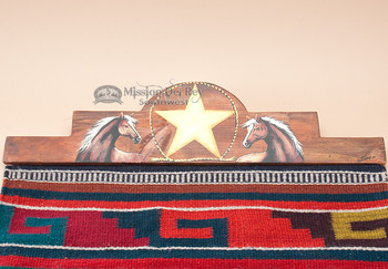 "Western Zapotec Rug Wall Hanger 30"" -Horse (RH32)"