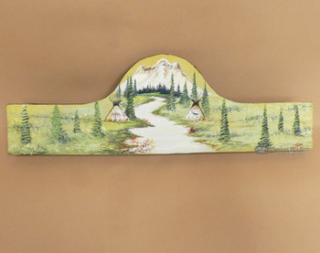 "Painted Southwestern Rug Hanger 30"" -Stream"