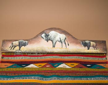 "Western Tapestry Rug Wall Hanger 30"" -Buffalo (RH7)"