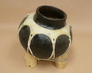 Rustic Dark Western Tarahumara Indian Pottery Vase