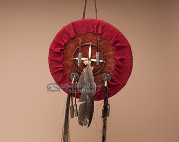 "Tigua Indian Leather Medicine Shield 10.5"" (s12)"