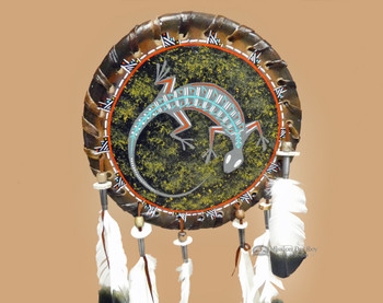 Native American Rawhide Shield