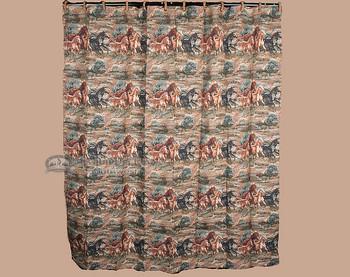 Shower curtain - wild horses.