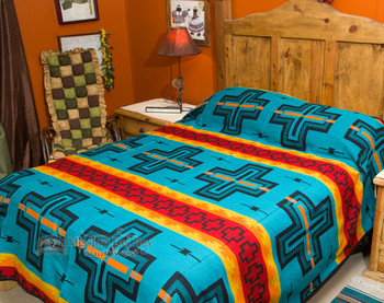 Cochiti Turquoise Southwest Bedspread