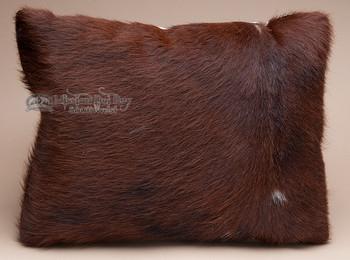 Rustic Western Cowhide Pillow 12x18