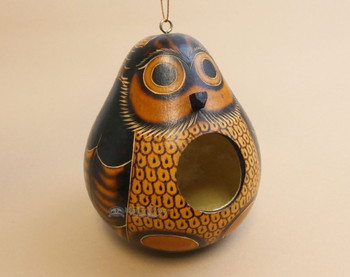 Andean Hand Carved Gourd Bird House