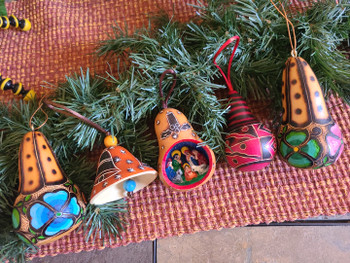 Carved Gourd Southwest Christmas Ornament Set