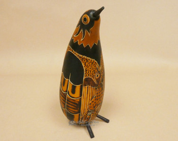 Hand Decorated Andean Gourd Bird