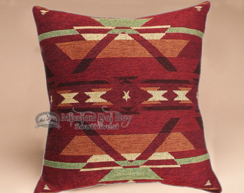 Southwestern style plush pillow -Pueblo Red
