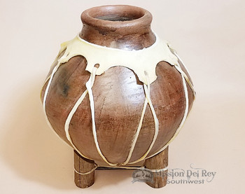 Southwest Native Tarahumara Indian Clay Vase 12""
