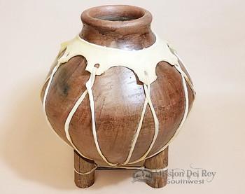 """Southwest Native Tarahumara Indian Clay Vase 12"""""""