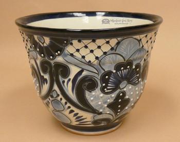 Hand painted ceramic planter pottery vase