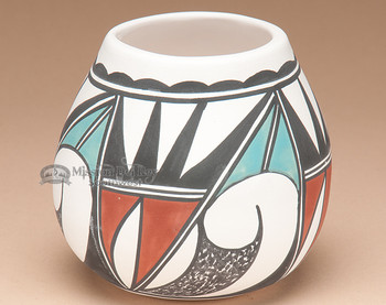 Traditional Painted Clay Pottery - Tigua