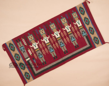 Southwestern Style Tapestry Wall Hanging - Yei Dancers