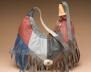 Southwestern Multi-color Cowhide Leather Purse