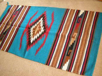 Zapotec Style Southwestern Wool Floor Rug 32x64 (64112)