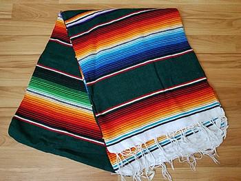 Classic Woven Mexican Serape -Green
