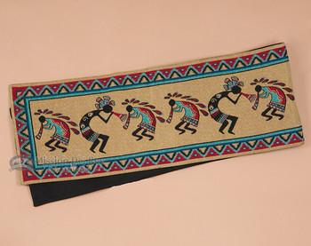 Southwestern Tapestry Woven Table Runner - Kokopelli