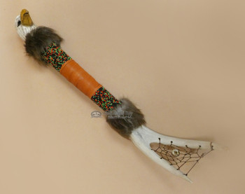 "Native American Creek Talking Stick 21"" -Eagle"