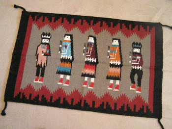 Southwest Wool Tapestry Rug 24x36 -Yei (2436821)