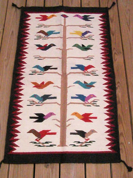 "Southwest Wool Tapestry 27""x44"" -Tree Of Life"