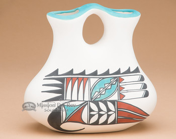 Tigua Indian Painted Wedding Vase