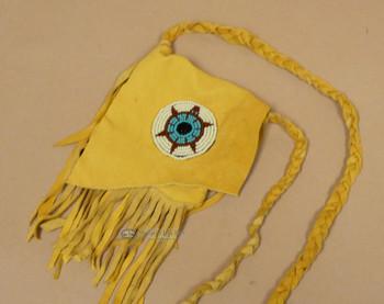 Deerskin Medicine Bag -Navajo Turtle