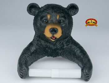 Bear toilet paper holder.