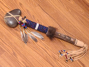 Beaded Stone Tomahawk -Creek