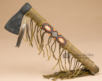 Old Style Beaded Tomahawk