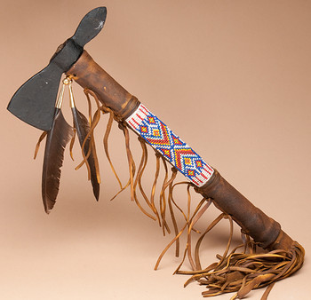 Navajo Indian Old Style Tomahawk - Double Blade