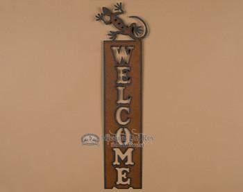 Metal Art Welcome Sign - Gecko