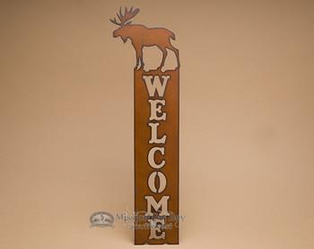 Lodge Metal Welcome Sign - Moose