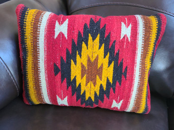 Hand Woven Wool Zapotec Indian Pillow