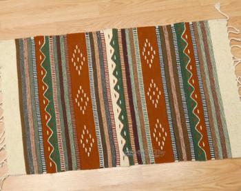 "Southwestern Zapotec Indian Rug 23""x39"" ("