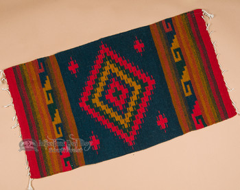 "Zapotec Indian Area Rug 23""x39"" (109)"