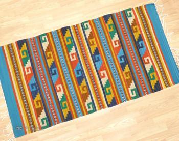 Zapotec Indian Wool Woven Floor Rug