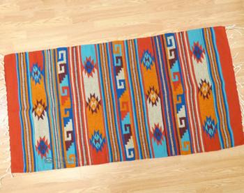 """Hand Woven Wool Zapotec Rug 30""""x60"""""""