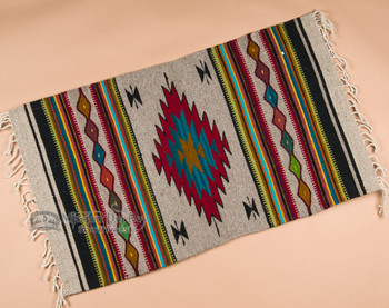 """Zapotec Indian Tapestry Rug 23""""x39"""" (131)"""