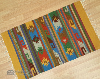 Small Zapotec Floor Rug - 23x39