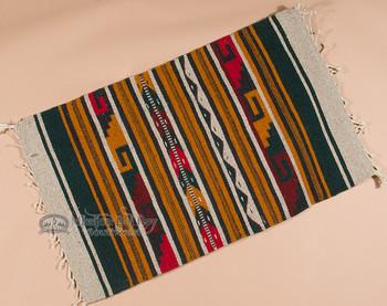 "Southwestern Zapotec Indian Rug 23""x39"" (142)"