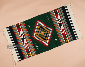 Zapotec Woven Wool Floor Rug - 30x60
