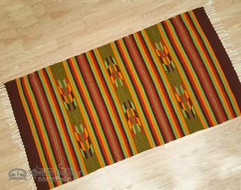 Oaxacan Southwest Zapotec Indian Rug - 30x60