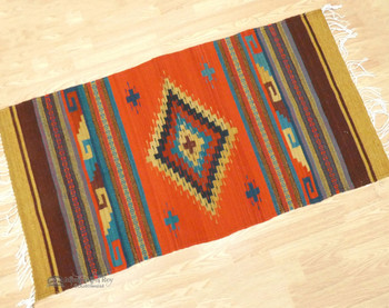 Southwest Zapotec Indian Wool Rug