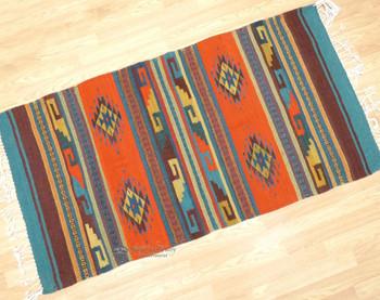 Handwoven Zapotec Indian Floor Rug
